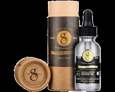 Suavecito Sandalwood Beard Oil - Масло для бороды с экстрактом сандалового дерева 30 мл