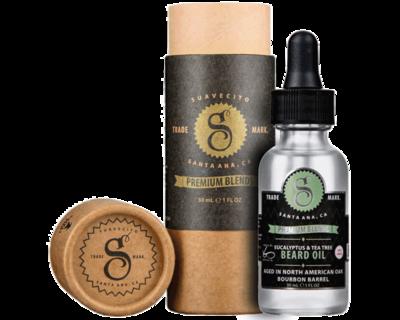 Suavecito Eucalyptus And Tea Tree Beard Oil - Масло для бороды с экстрактом эвкалипта и чайного дерева 30 мл