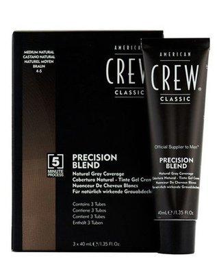 American Crew Precision Blend - Краска для седых волос натуральный оттенок 4/5, 3х40 мл