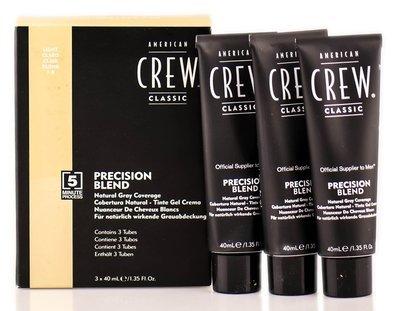 American Crew Precision Blend - Краска для седых волос светлый оттенок 7/8, 3х40 мл