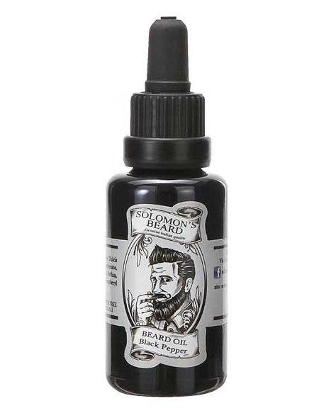 Solomon's Beard Black Pepper - Масло для бороды Черный перец 30 мл