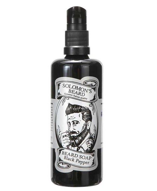 Solomon's Beard Black Pepper - Шампунь-мыло для бороды Черный перец 100 мл
