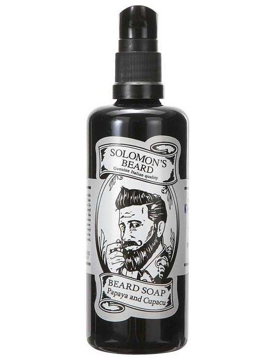 Solomon's Beard Papaya and Cupacu - Шампунь мыло для бороды Папая и Купачу 100 мл