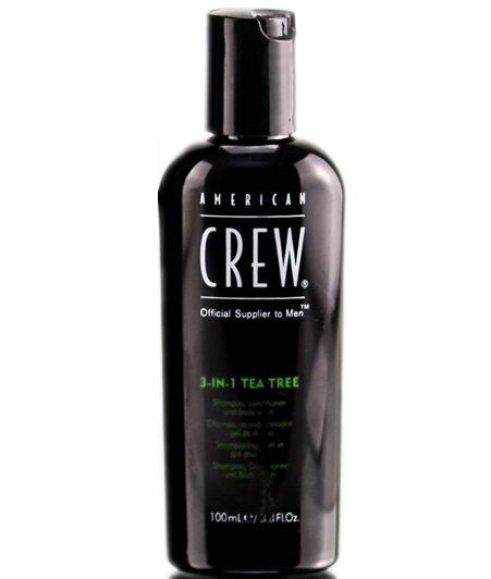 """American Crew """"Tea Tree"""" 3-in-1 - Шампунь, кондиционер и гель для душа 3 в 1, 100 мл"""