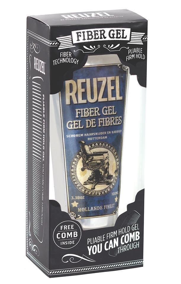 Reuzel Набор Fiber Gel Firm Hold + Comb - Гель для укладки волос +Расческа, 100 мл