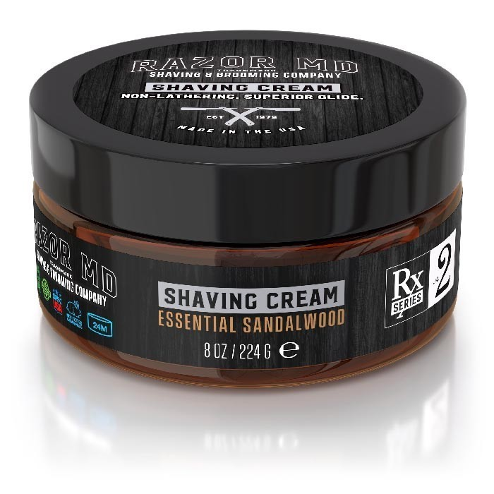 Razor MD Shaving Cream Essential Sandalwood - Крем для бритья Сандал 240 мл