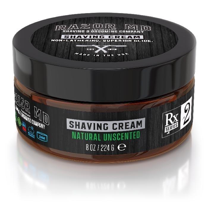 Razor MD Shaving Cream Natural Unscented - Крем для бритья без запаха 240 мл