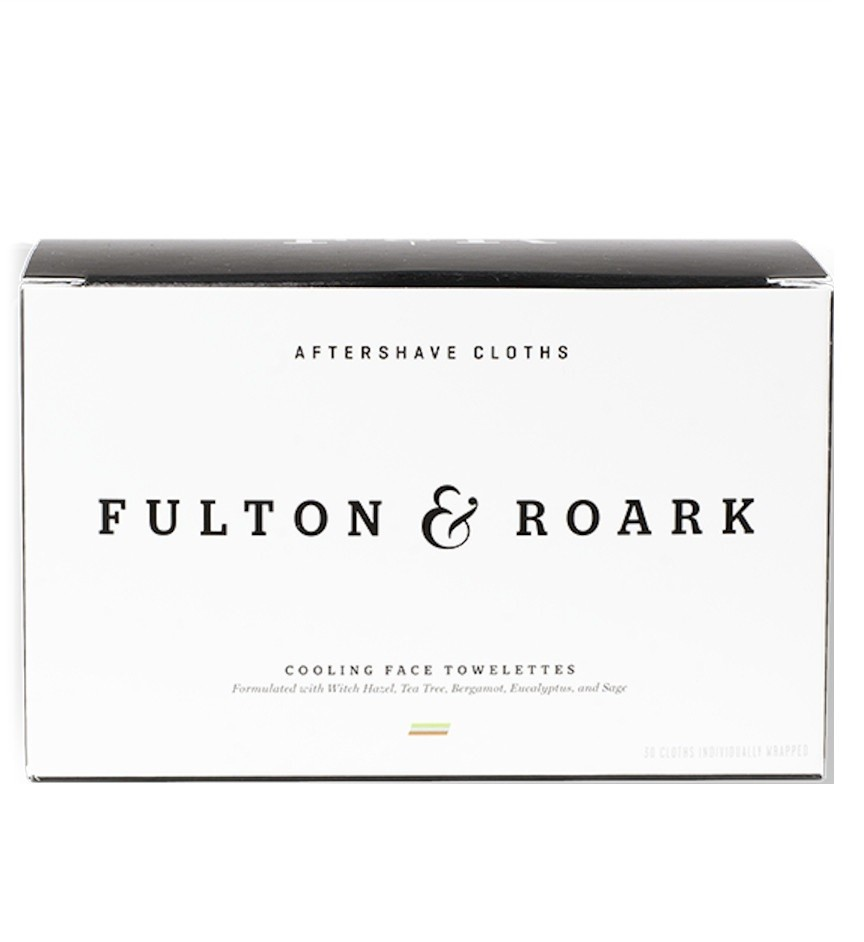 Fulton & Roark Aftershave Cloths - Салфетки для ухода после бритья 30 шт