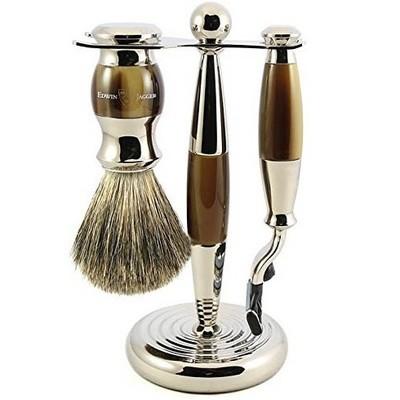 Edwin Jagger S81M352CR - Набор для бритья, темно-коричневый