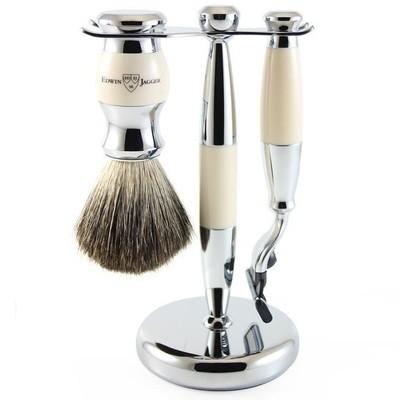 Edwin Jagger S81M357CR - Набор для бритья, слоновая кость