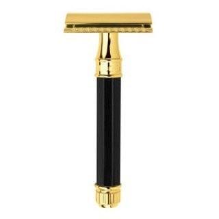Edwin Jagger DE86811GBL - T-образный станок для бритья, черная смола, золото