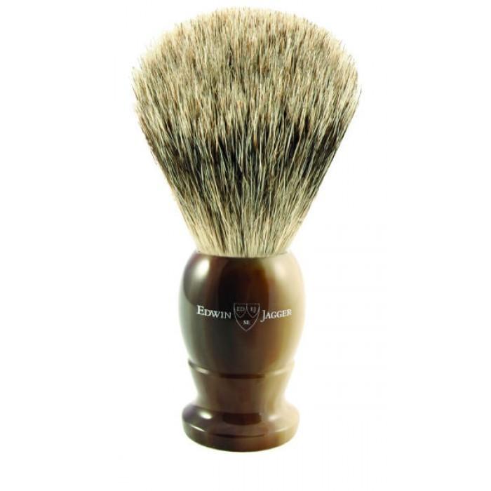 Edwin Jagger 9EJ872 - Помазок темно-коричневый барсучий ворс