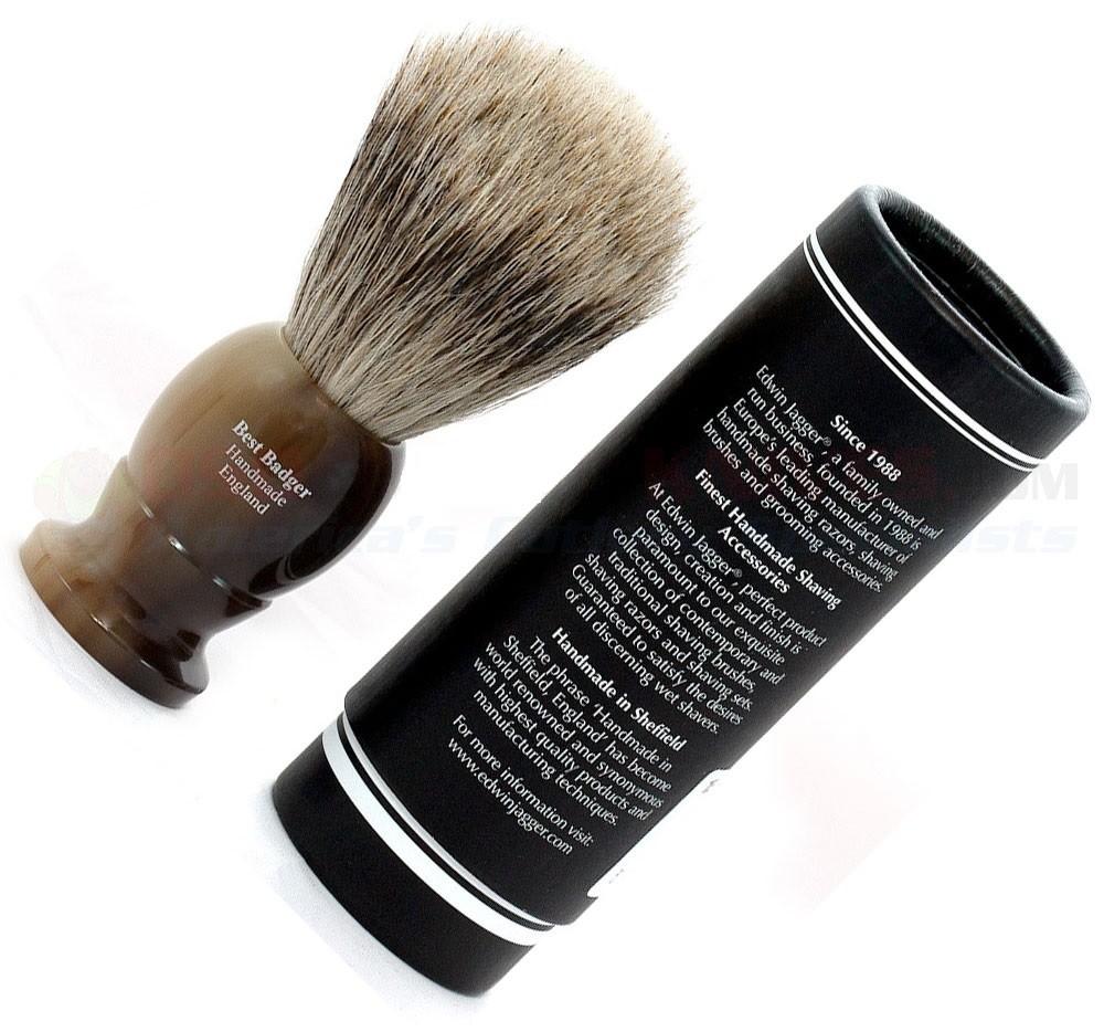 Edwin Jagger 1EJ872 - Помазок темно-коричневый барсучий ворс