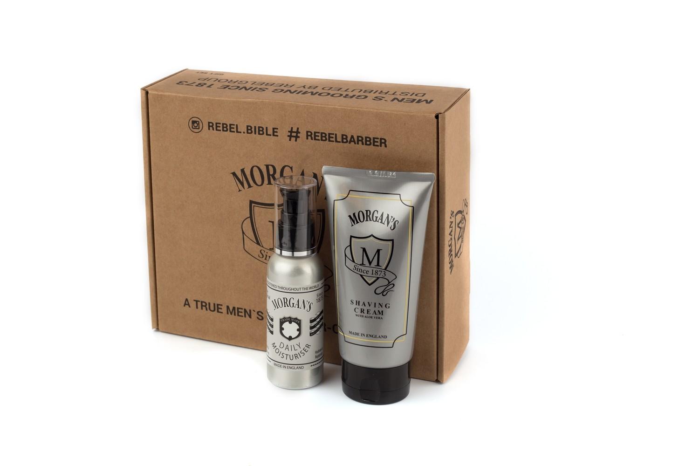 Подарочный набор крем для бритья + крем после бритья Morgans