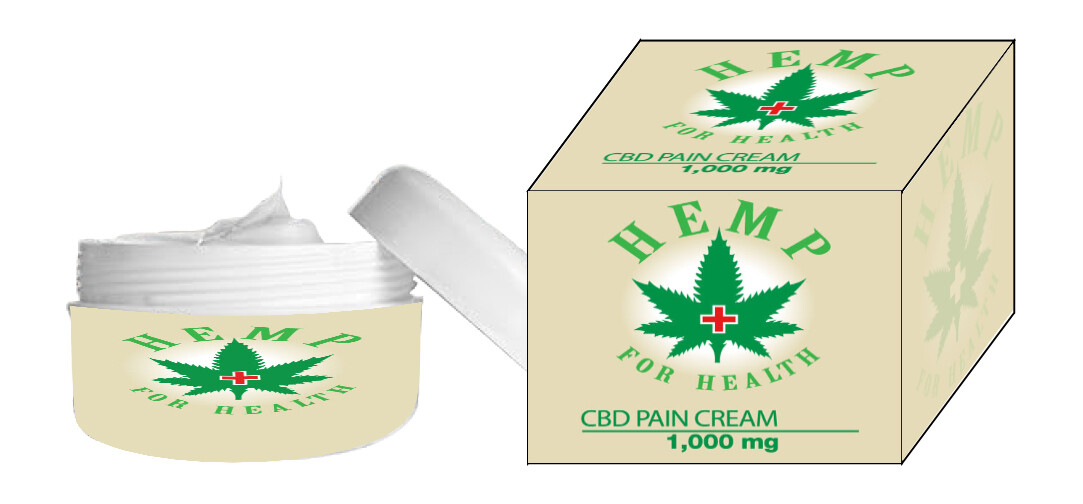 1000 MG CBD PAIN CREAM 2 OUNCE JAR BUY TWO GET ONE FREE