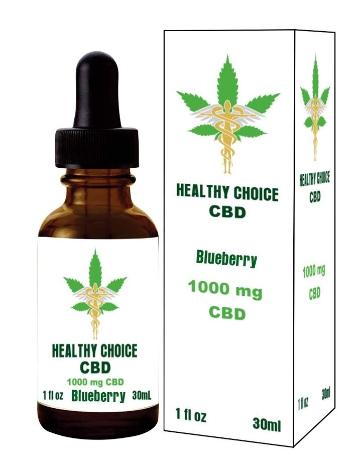 PREMIUM  CBD  1000 MG BLUEBERRY FLAVOR BUY TWO GET ONE FREE