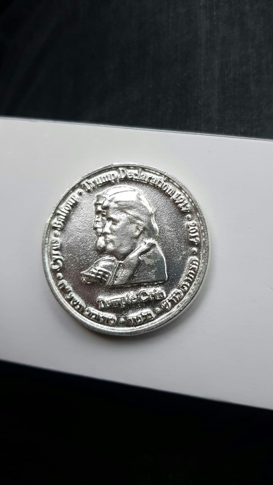 SOLID SILVER ORIGINAL TRUMP COIN 00011