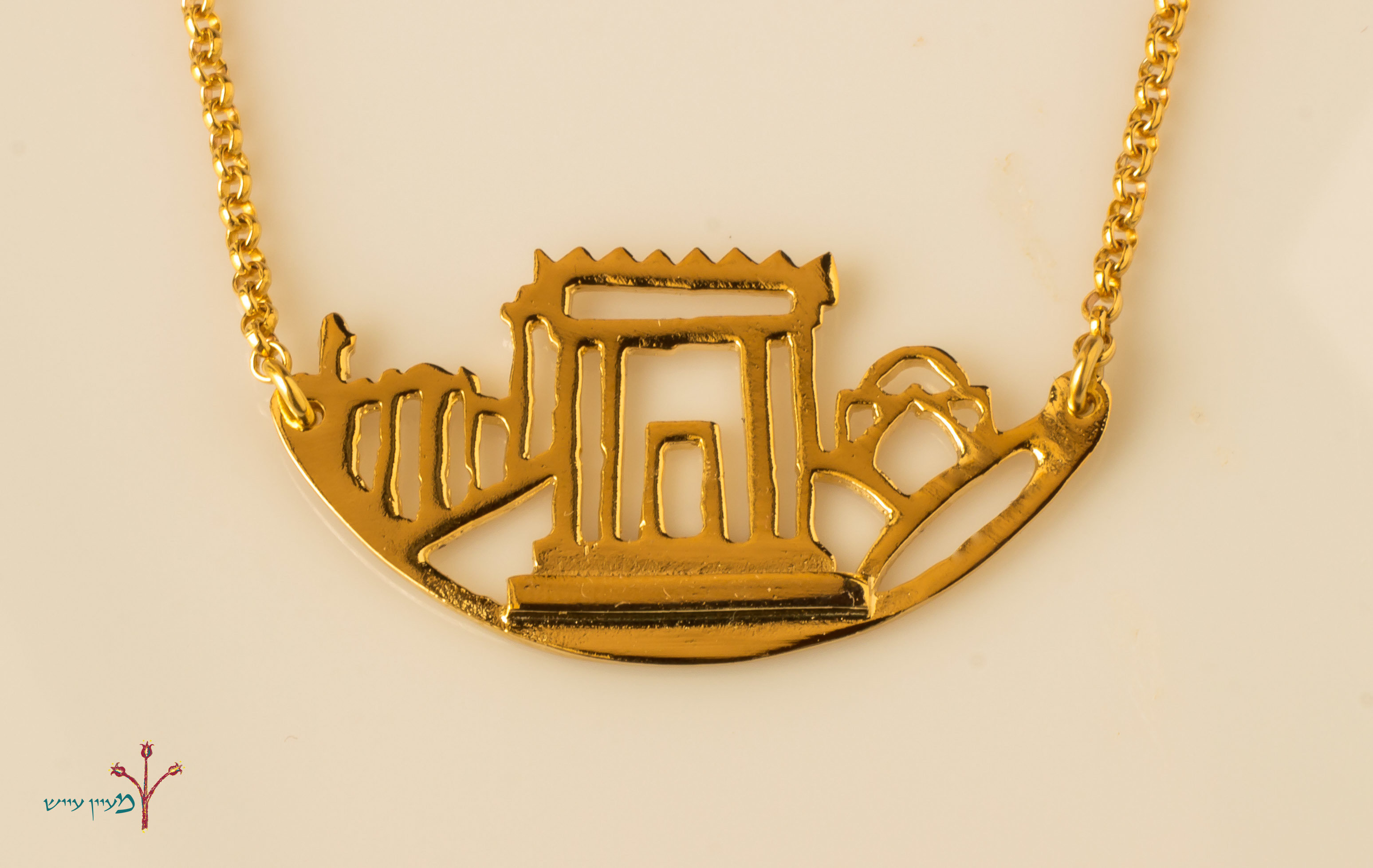 Three Holy Places Necklace - gold plated 00005
