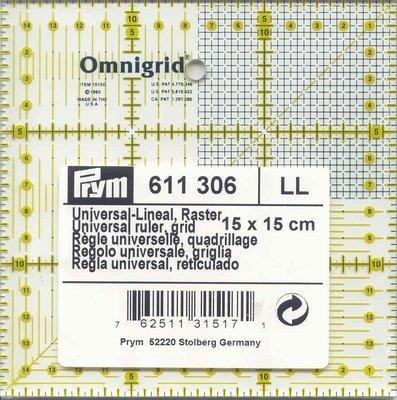 Prym Omnigrid liniaal 15 x 15 centimeter 611306