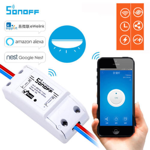 Sonoff ( Basic wifi smart switch): works with : esupport, amazon  Alexa,nest, google assistant   etc