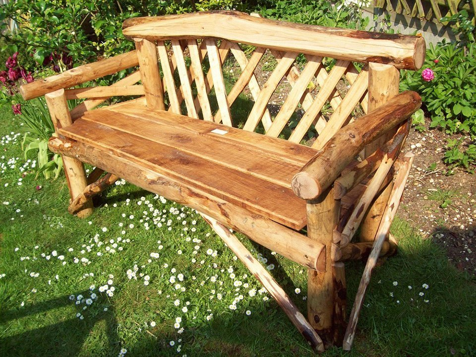 Remarkable Canterbury 3 Seat Hardwood Rustic Garden Bench Ncnpc Chair Design For Home Ncnpcorg