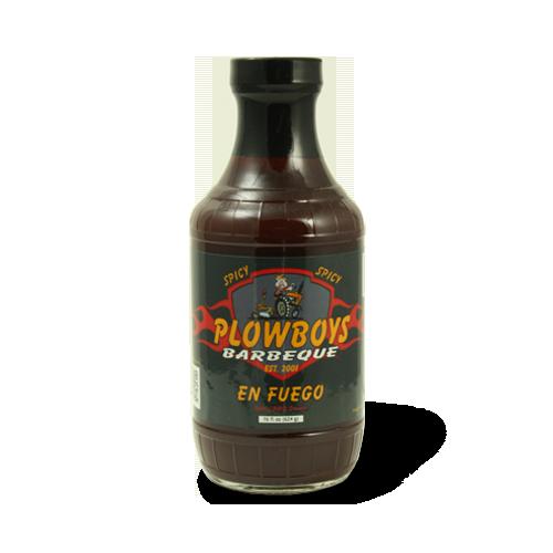 Plowboys Barbeque En Fuego Spicy Sauce 16 oz. 0859893003632