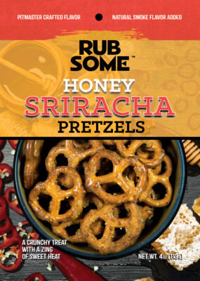 Rub Some Honey Sriracha Pretzels