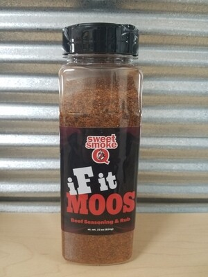 Sweet Smoke Q If It Moos- Beef Rub-22oz