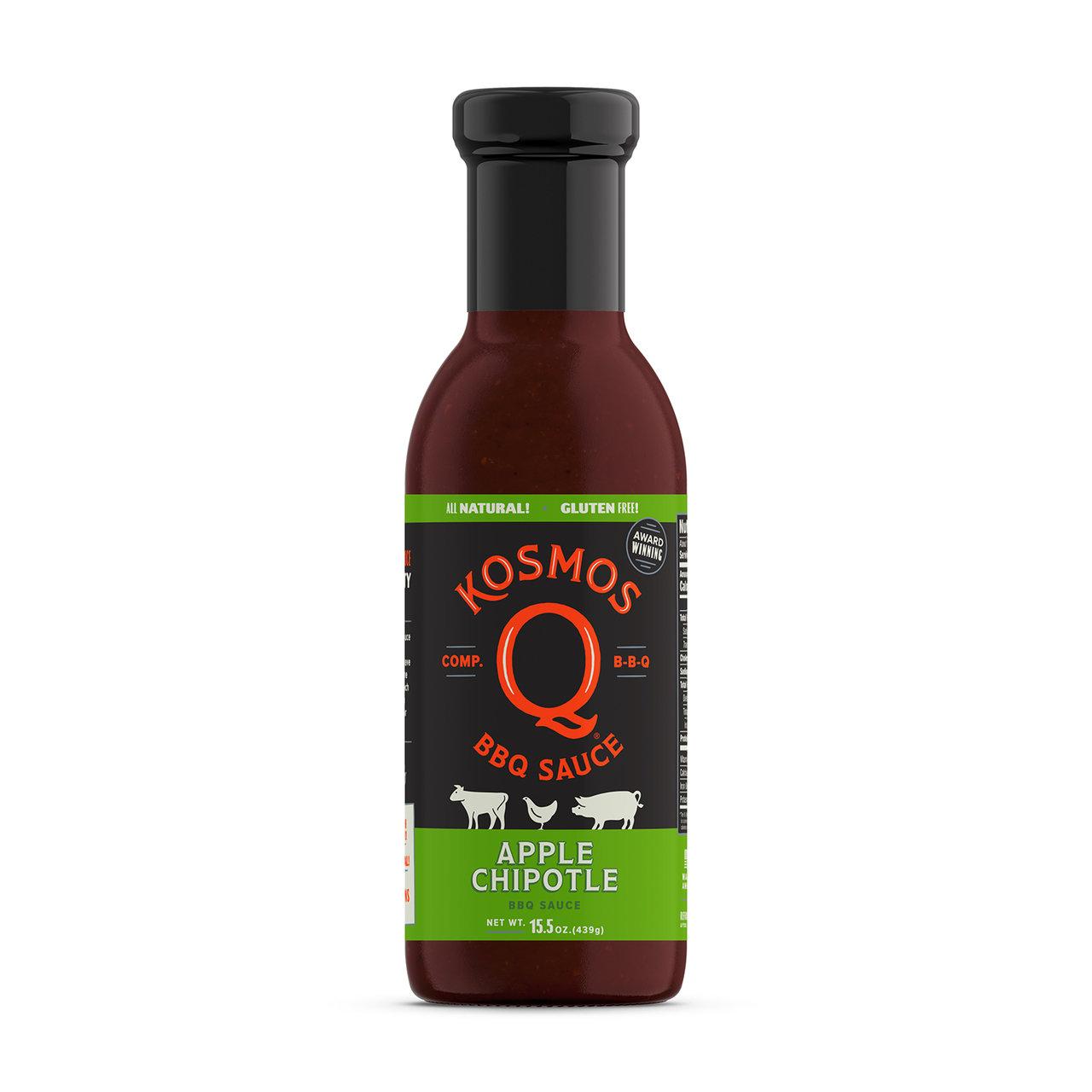 Kosmos Sweet Apple Chipotle BBQ Sauce 0851818003284