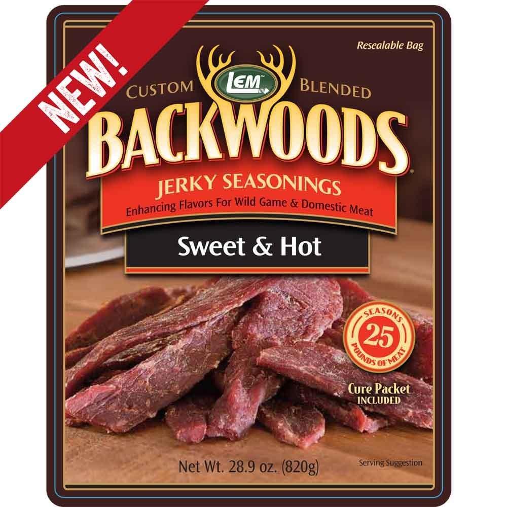 LEM BACKWOODS SWEET & HOT JERKY SEASONING 0734494091410