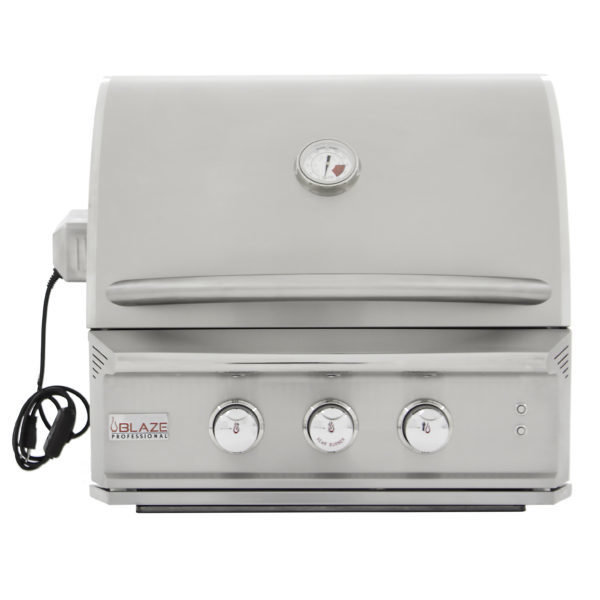 Blaze Professional 27-Inch 2 Burner Built-In Gas Grill With Rear Infrared Burner 00208