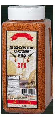 Smokin' Guns 2lbs Hot Rub 0698795010023