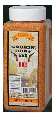 Smokin' Guns 26 oz. Sweet Heat Rub 0698795040020