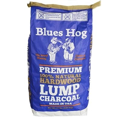 BLUES HOG PREMIUM NATURAL LUMP CHARCOAL 20 LB. BAG 0665591000145
