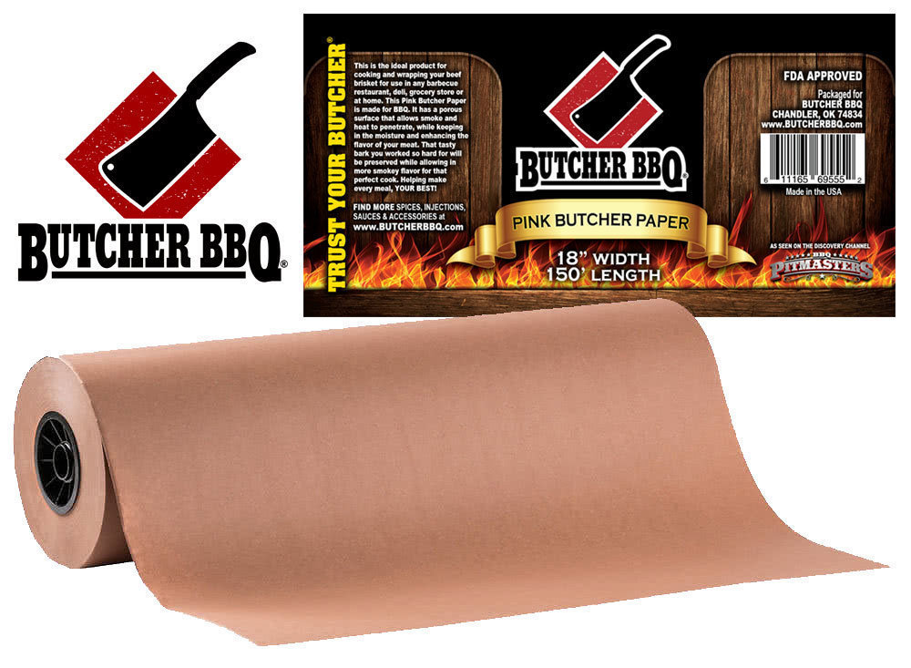 "Butcher BBQ Pink Paper 18""x150' 0000000014045"