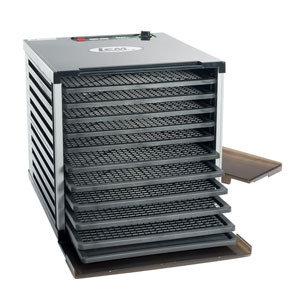 LEM Mighty Bite 10 Tray Double Door Countertop Dehydrator 0734494011531