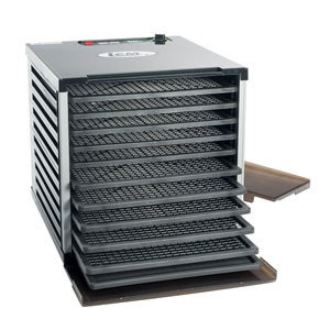 LEM Mighty Bite 10 Tray Double Door Countertop Dehydrator