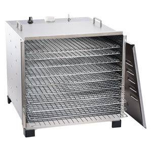 LEM Big Bite Stainless Steel Dehydrator w/Chrome Plated Trays (10 Tray) 0734494107784