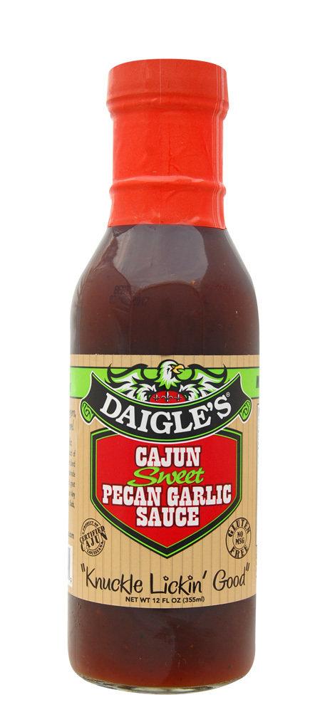 Daigle's Cajun Sweet Pecan Garlic Sauce 12 oz 0853037003069