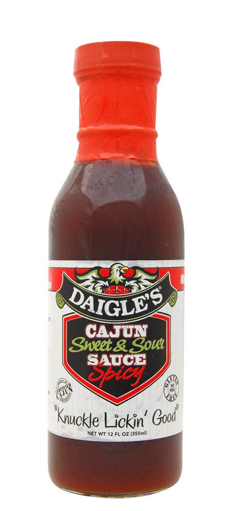 Daigle's Cajun Sweet&Sour Sauce Spicy 12 oz