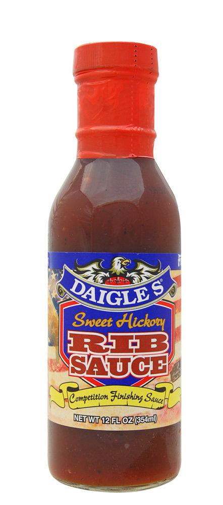 Daigle's Sweet Hickory Rib Sauce 12 oz