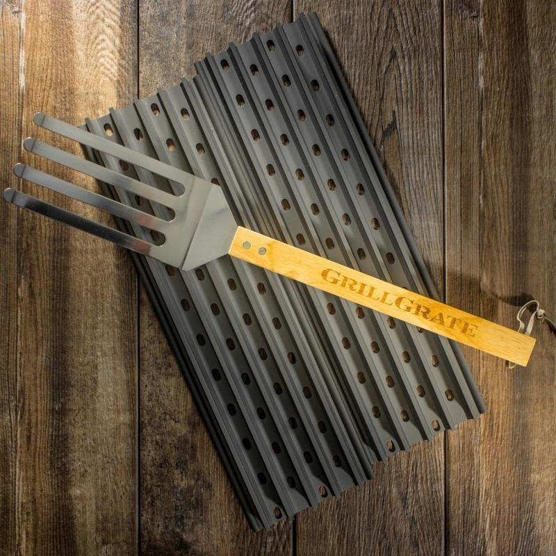 "GrillGrate-2 panel set- 19.25"" GrillGrates with Grate tool 0684191863561"