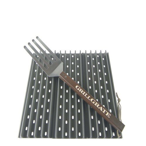 "GrillGrate-Three Panel set 17.375"" GrillGrates with grate tool 035127647036"