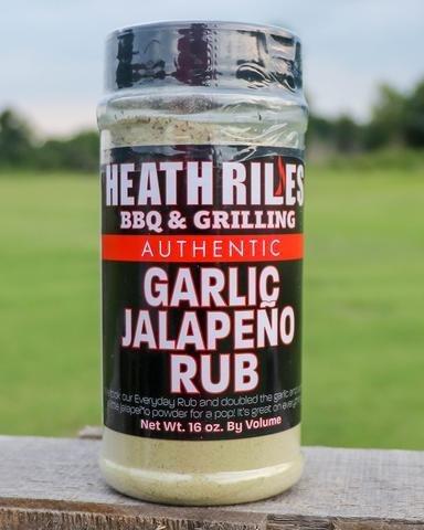 Heath Riles- BBQ Garlic Jalapeno Rub-16oz 0698902014968