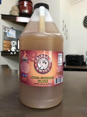 Triple 9 Swine-Apple Habanero Glaze half gallon