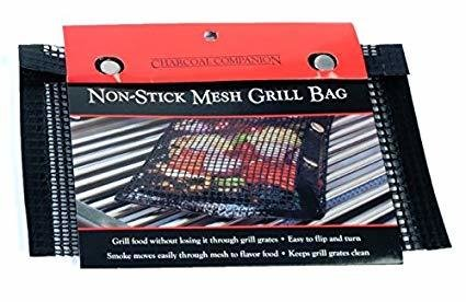 Charcoal Companions-Nonstick Mesh Grilling Bag-Small 0050016741411