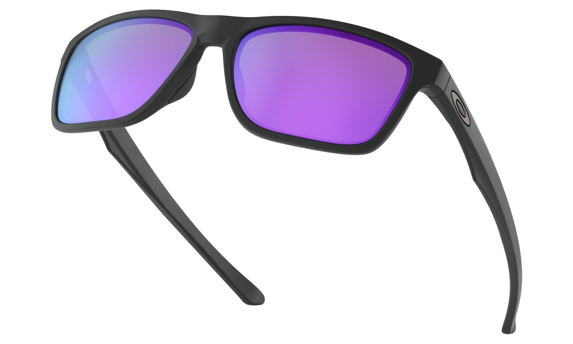 Oakley-Holston Matte Black with violet Iridium