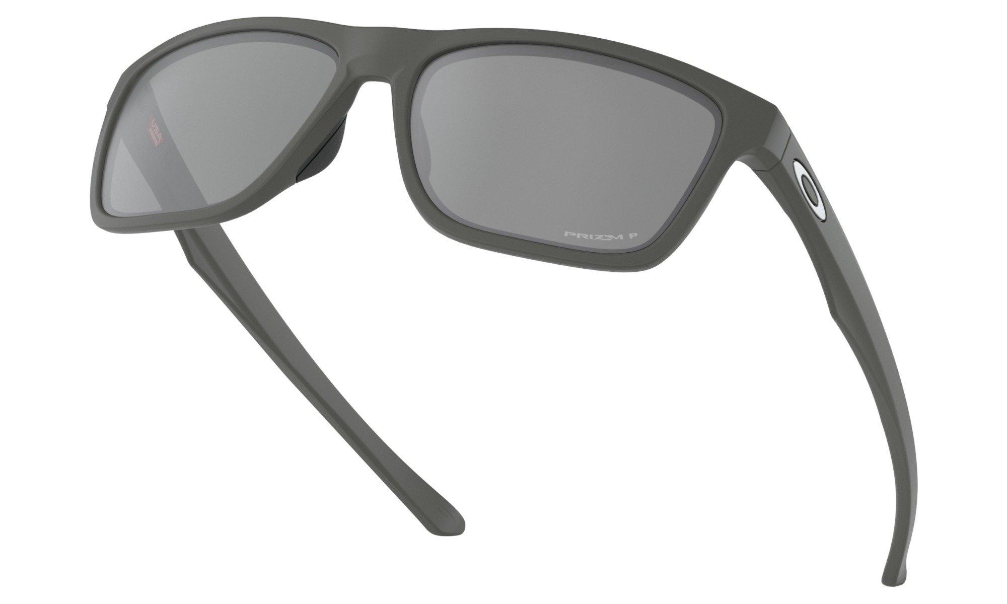Oakley-Holston Matte Dark Grey with Prizm Black Polarized