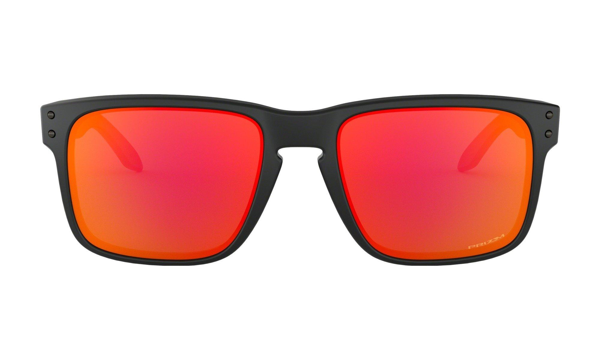 Oakley-Holbrook Matte Black-Prizm Ruby