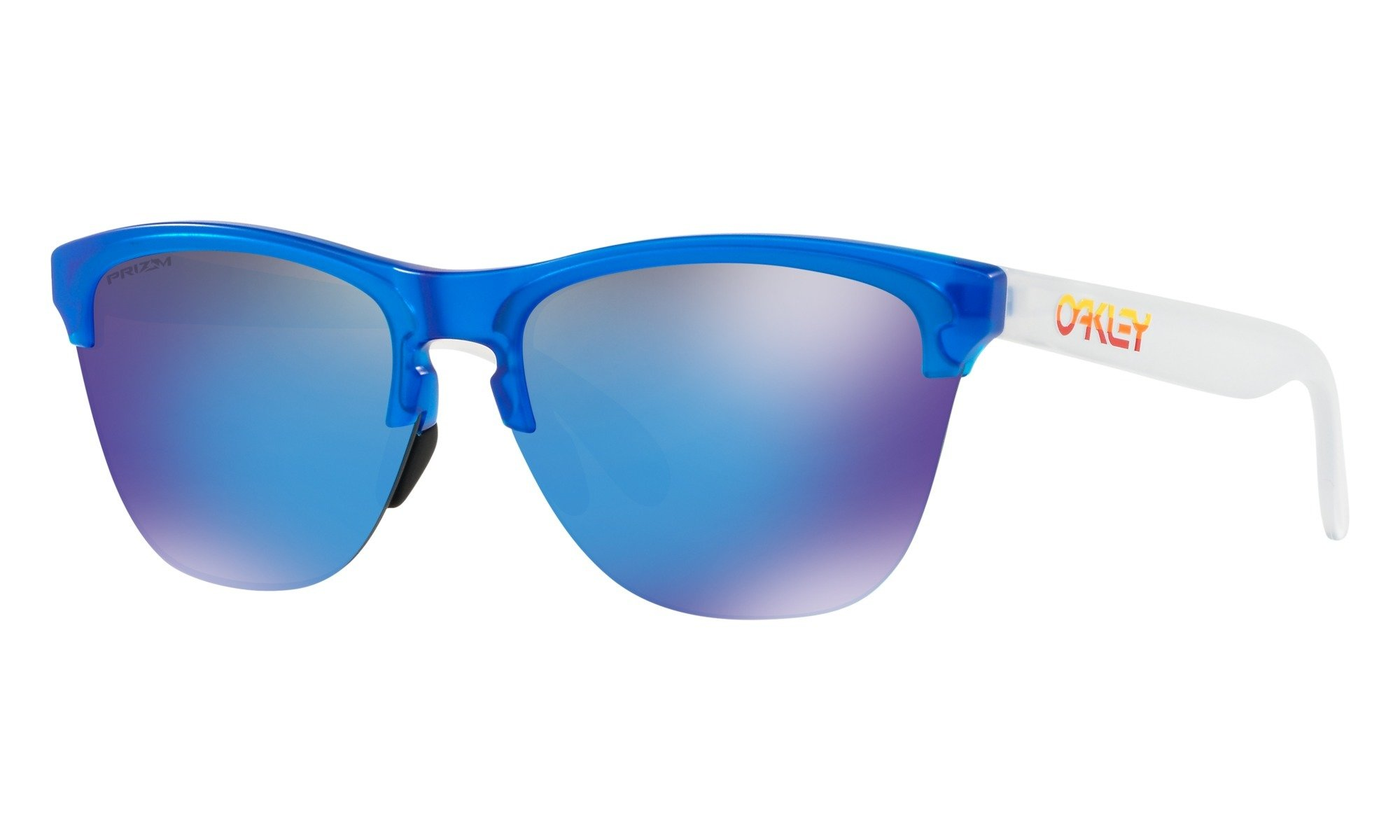 Oakley-Frogskins- Matte Translucent Sapphire with Prizm Sapphire Iridium 0888392348135